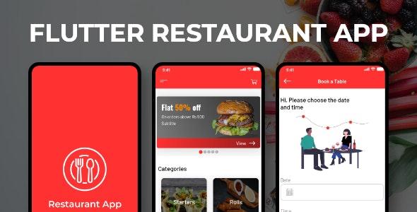 Flutter Restaurant App - CodeCanyon Item for Sale