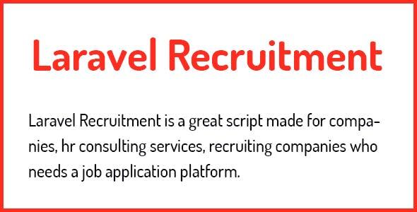 Laravel Recruitment Management System