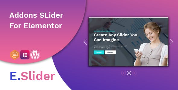 E.Slider Add ons slider for Elementor