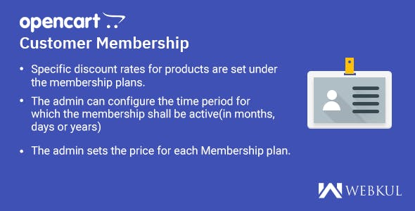 OpenCart Customer Membership