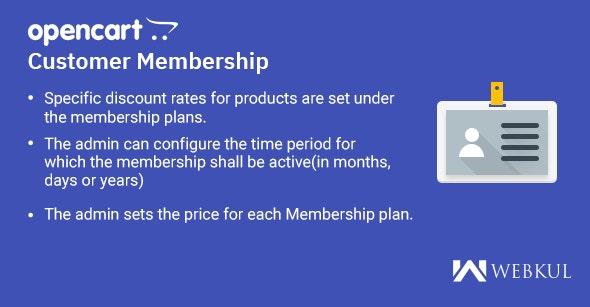 OpenCart Customer Membership - CodeCanyon Item for Sale