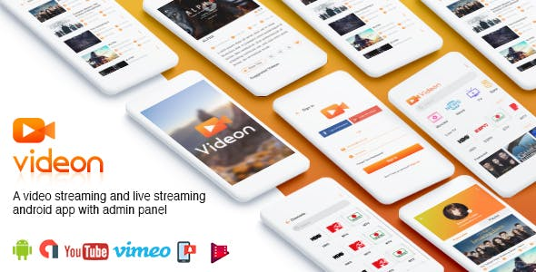 Videon - A video streaming android app with admin panel