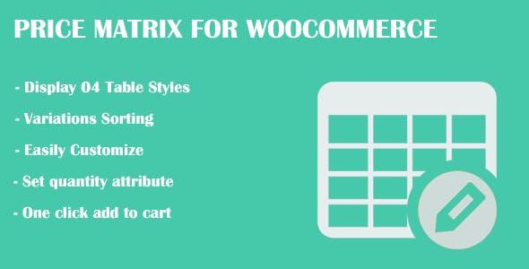 Price Matrix for WooCommerce