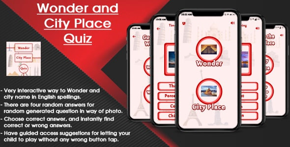 Wonder and City Place Quiz IOS (SWIFT) - CodeCanyon Item for Sale
