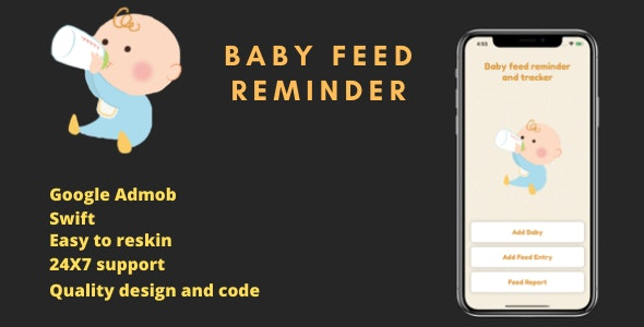 Baby feed tracker and reminder - CodeCanyon Item for Sale