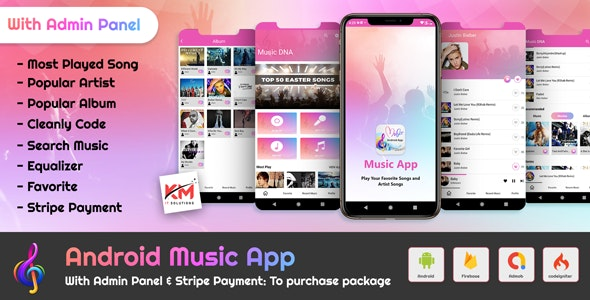 Android Music Player App With Admin Panel - CodeCanyon Item for Sale