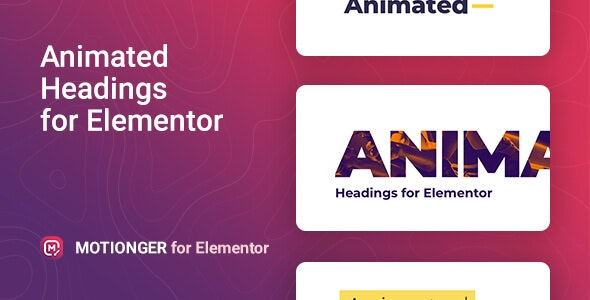 Motionger – Animated Heading for Elementor - CodeCanyon Item for Sale