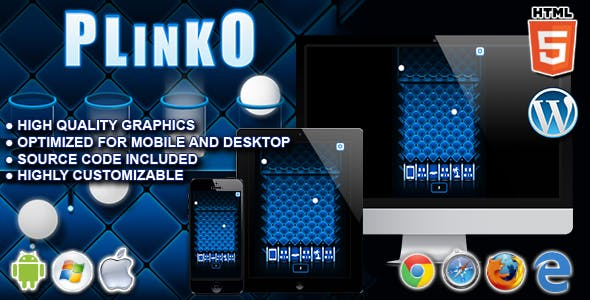 Plinko - HTML5 Instant Win Game