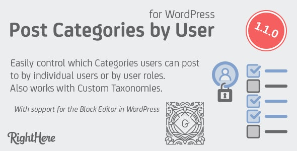 Post Categories by User for WordPress - CodeCanyon Item for Sale