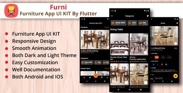 Furni - Furniture App UI Kit By Flutter