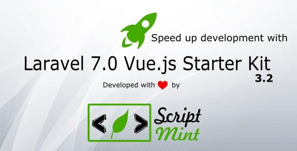 Laravel 7.0 Vue.js SPA Bootstrap Admin Starter Kit