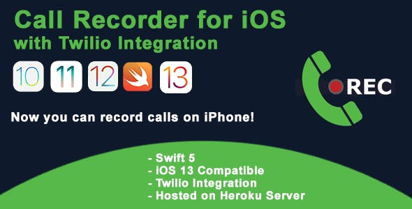Call Recorder for iOs with Twilio Integration