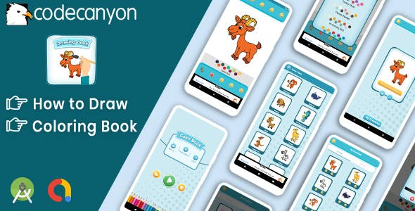 Drawing : Learn to Draw and Coloring book with admob ready to publish