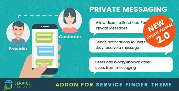 Private Messaging add-on for service finder theme