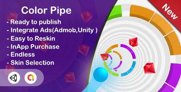 Color Pipe -Ultra Casual (Unity Complete+Admob+InApp )