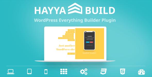 HayyaBuild - WordPress Everything Builder Plugin - CodeCanyon Item for Sale