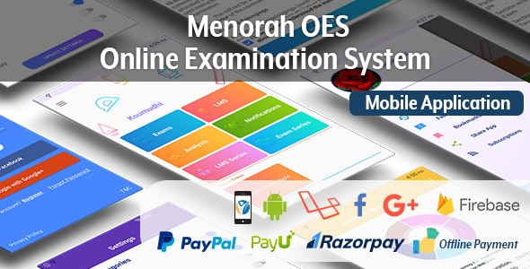 Menorah OES – Online Examination System Mobile App - CodeCanyon Item for Sale