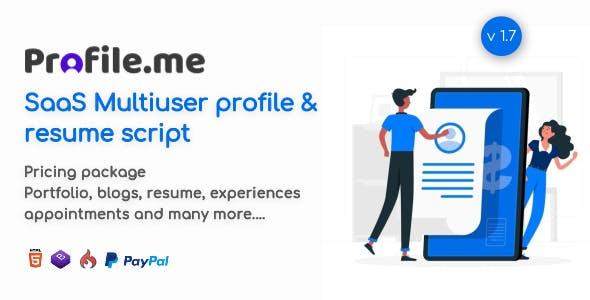 Profile.me - Saas Multiuser Profile & Resume Script