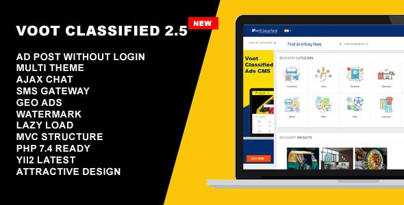 Classified Ads CMS - Voot Classified V2.5.5