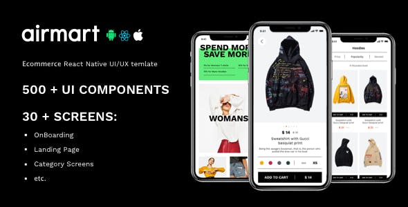 AirMart – React Native Ecommerce App Template