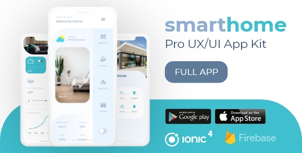 SmartHome Pro UX/UI Professional Ionic 4 Starter - CodeCanyon Item for Sale