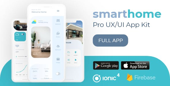 SmartHome Pro UX/UI Professional Ionic 4 Starter
