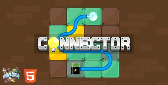 Connector - HTML5 Puzzle Game (Phaser 3)