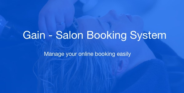 Gain - Salon Booking System - CodeCanyon Item for Sale
