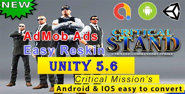 CS Commando Battle - Android + IOS Unity Complete Game