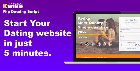 Kwike - Dating Website Php Script - CodeCanyon Item for Sale