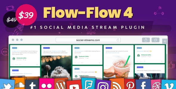 Facebook Instagram Twitter Feed — WordPress Social Stream & Grid Gallery Plugin