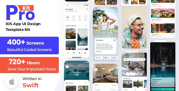 Prokit - iOS App UI Kit with SoftUI - CodeCanyon Item for Sale
