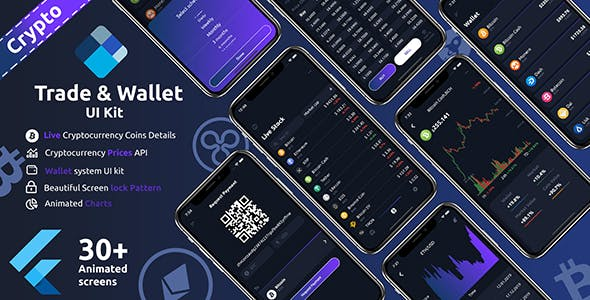Crypto Trade & wallet Flutter UI kit