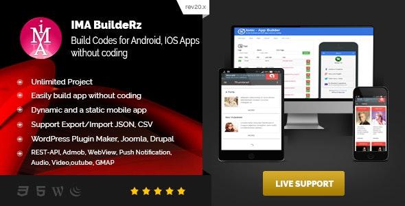 IMABuildeRz v1 - Universal AppBuilder for Cordova/Phonegap/Ionic v1 - CodeCanyon Item for Sale