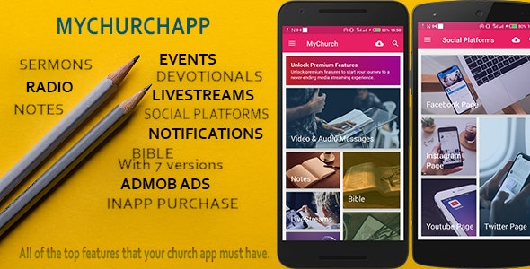 My Church App - connect your church to a mobile world. - CodeCanyon Item for Sale