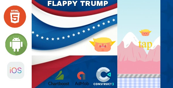 Flappy Trump - HTML5 Game - HTML5 Website - CodeCanyon Item for Sale