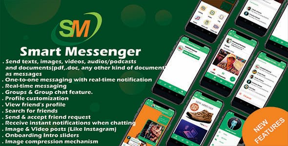 Smart Messenger - Social Media App with Admob and Firebase Android