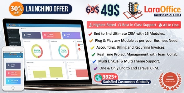 LaraOffice Ultimate CRM and Project Management System - CodeCanyon Item for Sale
