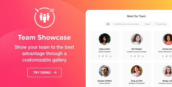 Team Showcase - WordPress Team Showcase plugin