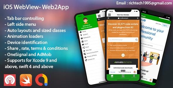 IOS WebView - Web2App   Admob   Onesignal - CodeCanyon Item for Sale