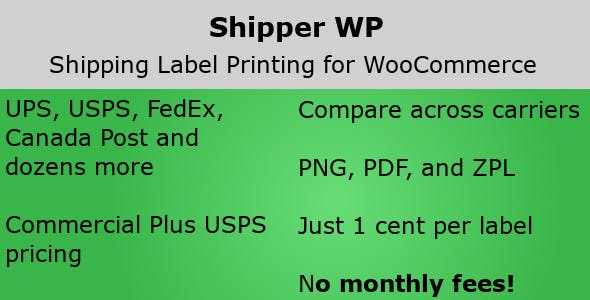 Shipper WP - Shipping Labels for WooCommerce