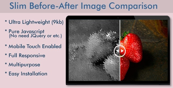 Slim Before-After Image Comparison Slider - CodeCanyon Item for Sale