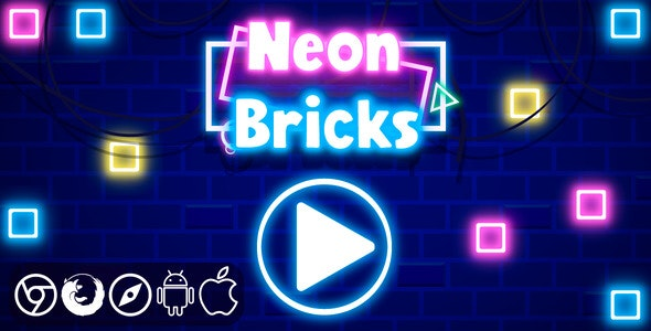 Neon Bricks - HTML5 Game - CodeCanyon Item for Sale