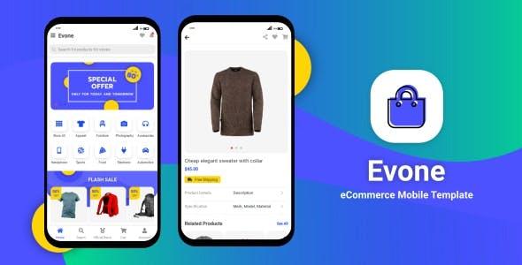 Evone Flutter - eCommerce Shop & Store Mobile Template