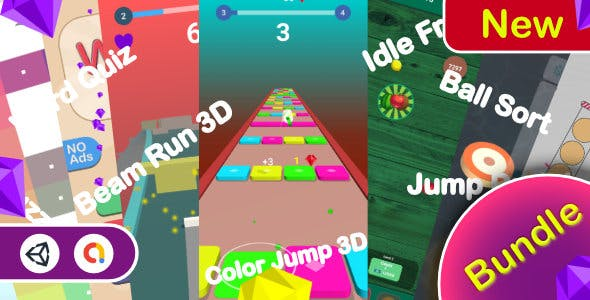 Casual Bundle Games - 7 Games(Unity Complete+Admob+Android+iOS)