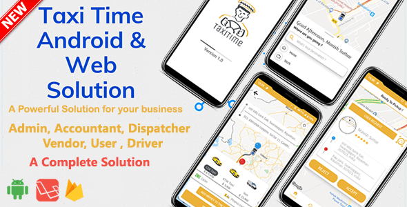Taxi Time - Android Taxi Application Complete Solution - CodeCanyon Item for Sale