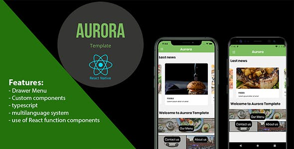 Aurora Restaurant | React Native Template