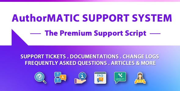 AuthorMATIC - The Premium Support Script