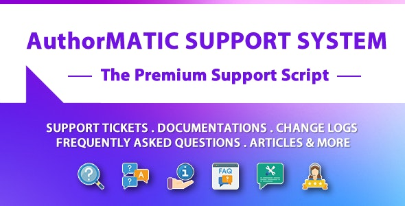 AuthorMATIC - The Premium Support Script - CodeCanyon Item for Sale