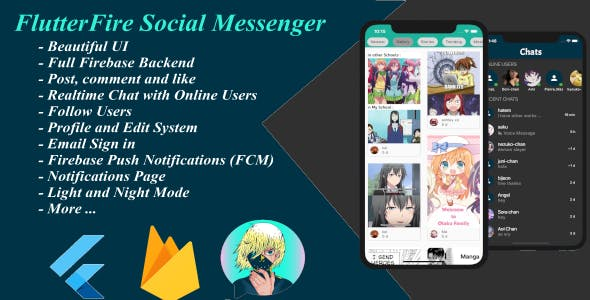 FlutterFire Social: Chat and Messaging app with Flutter and Firebase